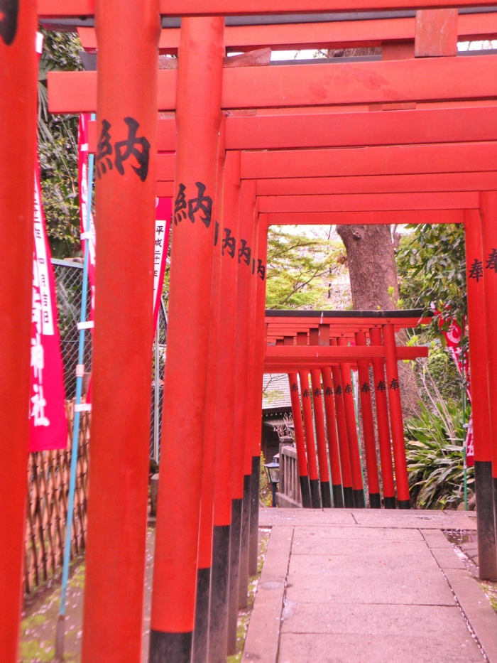 上野公園內的花園稻荷神社 圖片取自https://www.flickr.com/photos/psicoloco/4580028943
