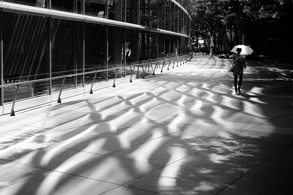 戶外廣場也有美麗的光影! 圖片取自https://www.flickr.com/photos/jamesjustin/4825839509