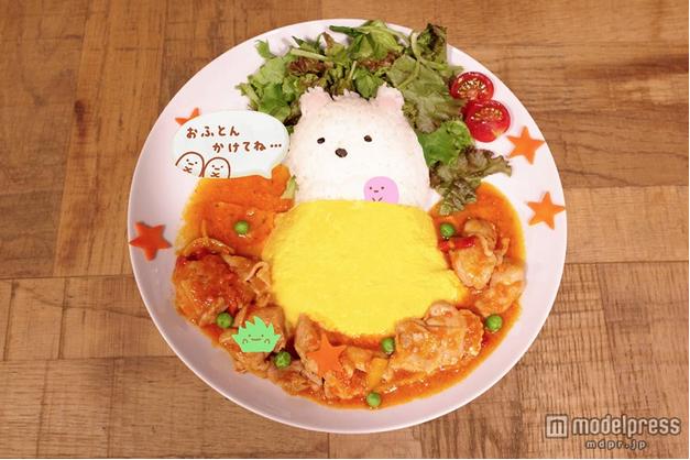 白熊君蕃茄蛋包飯。圖片取自:http://travel.mdpr.jp/photo/detail/1801475