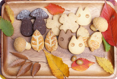 TOTORO餅乾。圖片取自:http://www.shiro-hige.com/assets/images/xmas_2014/cookies.jpg