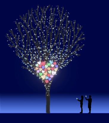六本木點燈,圖片取自:http://goo.gl/H88lSI